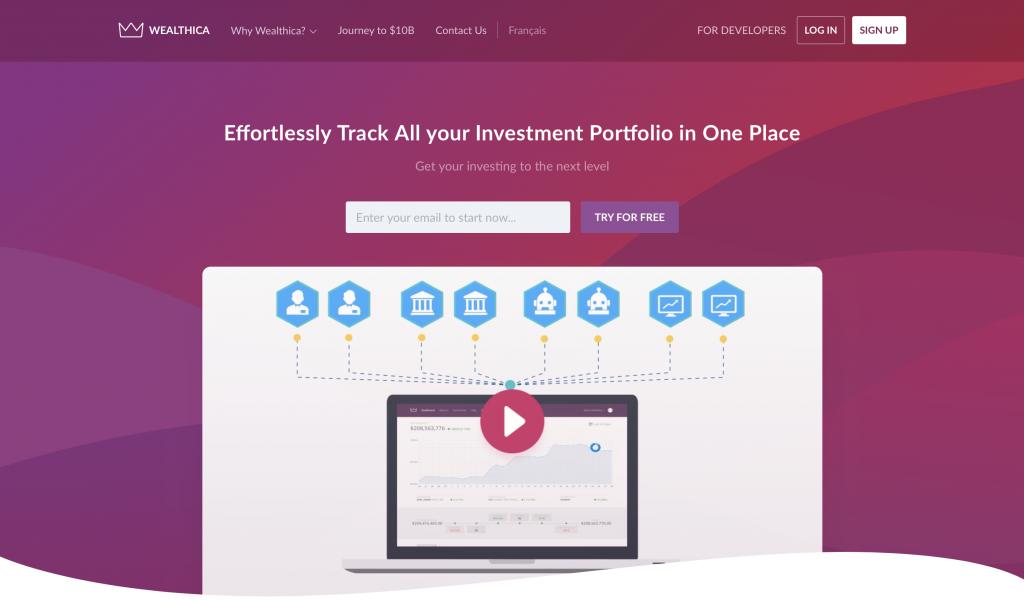 New Wealthica Web Site Screenshot