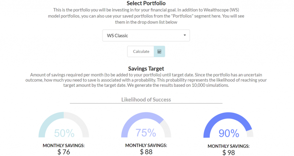 Screenshot of Target Portfolio