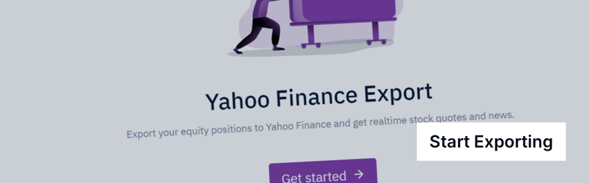 Export portfolio yahoo finance
