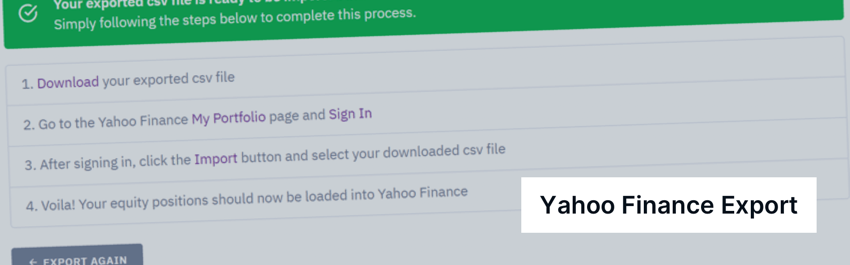 Export yahoo finance step by step