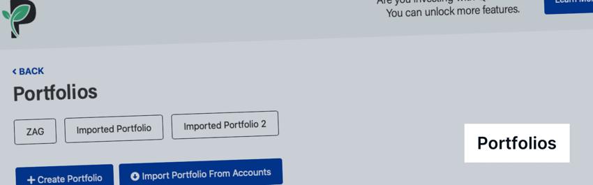Passiv import portfolio